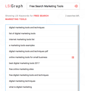 LSI Graph spits out contextual keywords for SEO campaigns