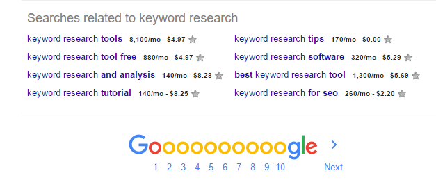keywords everywhere lists search volume for google results